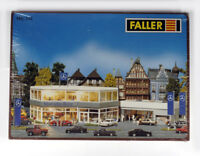 FALLER 344 HO H0 KIT MERCEDES-BENZ dealership , Mercedes-Benz Autohaus , NEW
