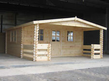 GRANT LOG CABIN - 5m x 5.9m - 68mm Summer House, Garden Building, Home Office