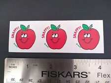 Vintage Trend Scratch n Sniff Stickers APPLE SCENT Matte 80s MINT Lot of 3
