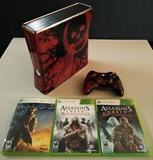 Microsoft Xbox 360 S Gears of War Edition 320GB W Games Ships Fast