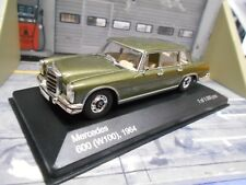 MERCEDES BENZ 600 Limousine W100 Langversion grün green met IXO White Box 1:43