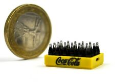 Coca-Cola Coke Super Mini Flaschen Kasten USA 1970 Miniatur 24 Bottle Case Crate