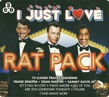 I JUST LOVE THE RAT PACK - 3 CD BOX SET - THATS AMORE, VOLARE & MORE