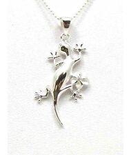 Plumeria Flower Pendant Silver 925 Gecko Hawaiian