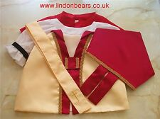 BISHOP 5 PIECE OUTFIT - FITS TEDDY BEARS 16 INCH / 40CM TALL – MADE IN ENGLAND