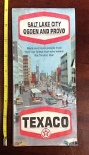 Vintage 1970 Salt Lake City, Odgen and Provo Texaco Road Map