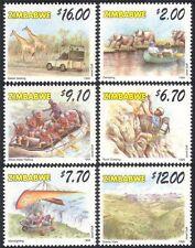 Zimbabwe 1999 Tourisme/Girafe/Elephant/Voiture/Bateau/transport/animaux 6 V Set n16686
