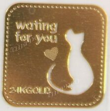 TPD 24K Gold Plated Anti Radiation Block Shield Cell Phone Sticker Cat Cats