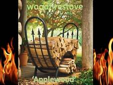 Firewood Storage / Wood Rack 'Applewood' Wrought Iron Curved Log Holder