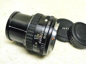 Asahi PENTAX-M SMC 50mm F/4 MACRO PK K-Mount Lens, w/ Case, Caps. Sharp & MINTY!