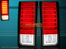 03 04 05 06 07 08 09 HUMMER H2 SUV EURO RED CLEAR LED TAIL LIGHTS PAIR
