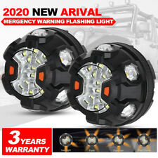Pair 4inch 16LED Car Emergency Beacon Warning Flash Strobe Light Bar Outdoor