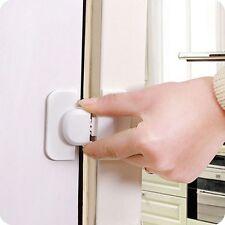 Adhesive Cabinet Kids Freezer Catch Child Drawer Door Safety Fridge Lock