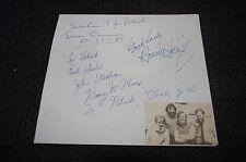 THE DUBLINERS signed Autogramme auf 17x19 cm Zettel InPerson SELTEN