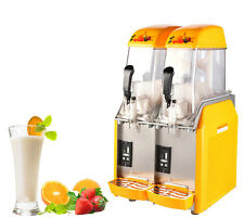 2 Tank Frozen Drink & Slush Machine Juice Slushy Smoothie Maker 110V Us Ca Y