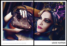 Madonna 3-page clipping 2009 ad for Louis Vuitton