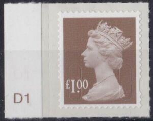 z5030) Great Britain - Machins 2012 MNH  SG u2934 £1.00 M12L Cyl. D1 Tab
