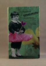 "HOLY CRAP by Erin Smith Art DON""T PRETEND notebook with accordion file A24744"