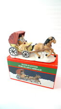 Christmas Village Hand-Painted Horse Carriage Porcelain Holiday Home Decor