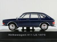 DeAGOSTINI #20 VW 411 LE (1970) in dunkelblau 1:43 NEU/PC-Vitrine