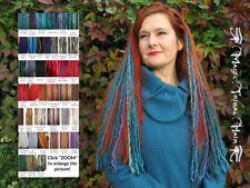 DREADS EXTENSIONS 2 clip ins MANY COLOURS Dreadlocks TRIBAL FUSION Belly Dance