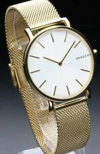 "Skagen ""Hagen Collection"" Slim Gold-Tone Mesh Unisex Watch SKW6443 - NWT $175"