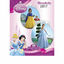 Simplicity Disney Princess Pattern # 2817 ~DRESS & CAPE ~ Size 7 TO 14 ~ New!