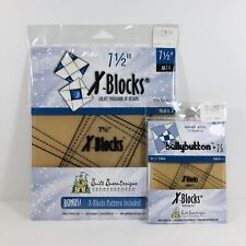 7-1/2in X Blocks Plus Bellybutton Acrylic Quilting Templates Quilt Queen Designs