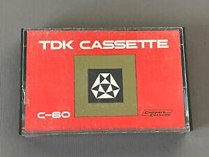 Vintage TDK C-60 EMPTY Audio Cassette Case - Made In Japan **Please Read