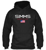 Simms Made In Usa Gildan Hoodie Sweatshirt