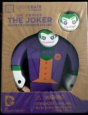 loot crate exclususive DC COMICS THE JOKER  painted wooden figure new in box