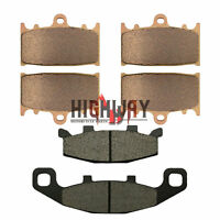 Front and Rear Brake Pads For KAWASAKI ZZ-R400 600D 900A 1100C GPz900 R ZR1100 A