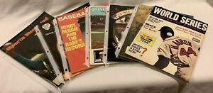 Lot of 7 Vintage 1970's Atlanta Braves Baseball Yearbooks Magazines Henry Aaron