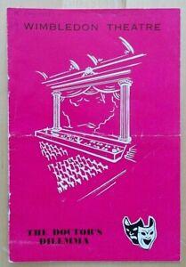 The Doctor's Dilemma programme Wimbledon Theatre 1963 Wilfrid Hyde White