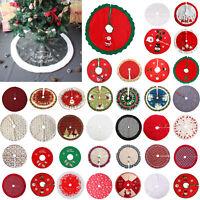 Christmas Tree Apron Non-woven Xmas Tree Skirt Carpet Home Party Craft Ornaments