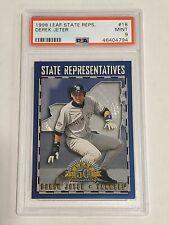 🔥 1998 Leaf State Representatives Derek Jeter New York Yankees /5000 PSA 9 MINT