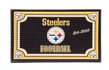 PITTSBURGH STEELERS ~ (1) Official NFL 18x30 Welcome Mat Embossed Rug ~ New!