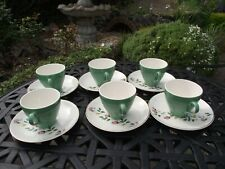 J&G MEAKIN  6 CUPS & 6 SAUCERS SOL