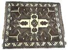 """Vintage Native American ? Navajo ? Rug 56"""" X 48"""" Handmade Carpet Brown Blanket"""
