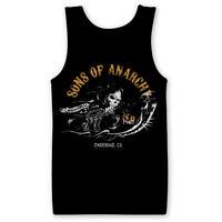 Sons of anarchy Reaper Gun Charming Official SAMCRO Black Mens Vest