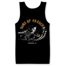 Sons of anarchy Reaper Gun Charming Official SAMCRO Black Mens Vest