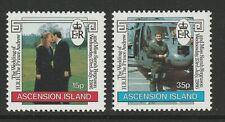 Ascension 1986 Royal Wedding set SG 407-408 Mnh.