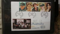 2000 AUSTRALIAN ALPHA STAMP ISSUE FDC, FACE OF AUSTRALIA STRIP OF 5 STAMPS 10