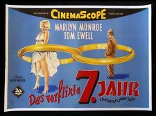 7 SEVEN YEAR ITCH * CineMasterpieces GERMAN MOVIE POSTER MARILYN MONROE 1955