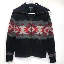 Ralph Lauren Womens Petite Small Cardigan Sweater Southwest Indian Lambswool