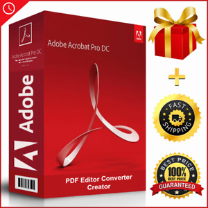 Acrobat Pro DC 2020⭐PDF Reader+Editor⭐Windows✅LifeTime🔑KEY=10Devices 🔥-30%🔥