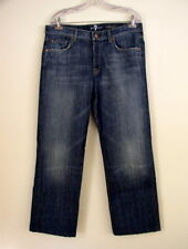 7FAM 7 For All Mankind Mens Jeans Relaxed Boot Cut Dark Wash Button Fly Sz 32
