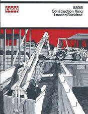 Equipment Brochure Case 580b Construction King Loader Backhoe C1971 E3857