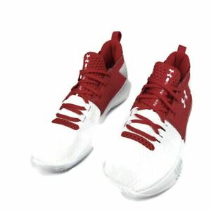 Under Armour Drive 4 Low White Red US Men's Size 9 Shoe Basketball 3000086