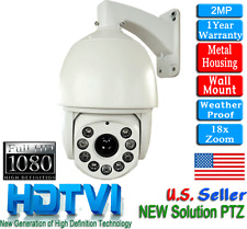 18x Zoom 1080P HD TVI PTZ Camera 2.1MP 360ft IR NightVision IP66 Outdoor